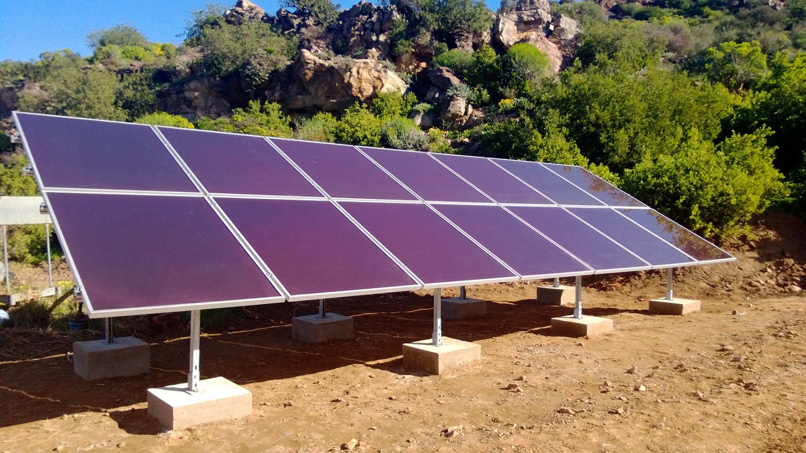 Solar Installation on Farm used for Water Pumps